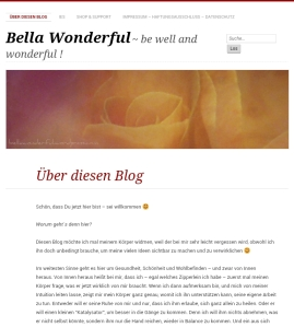 Screenshot Blog Bella Wonderful